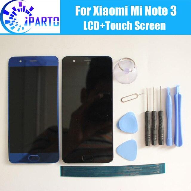 עבור שיאו mi Mi הערה 3 LCD תצוגה + מסך מגע Digitizer + טביעת אצבע מפתח 100% נבדק LCD מסך + מגע עבור Mi הערה 3(10 נוגע)