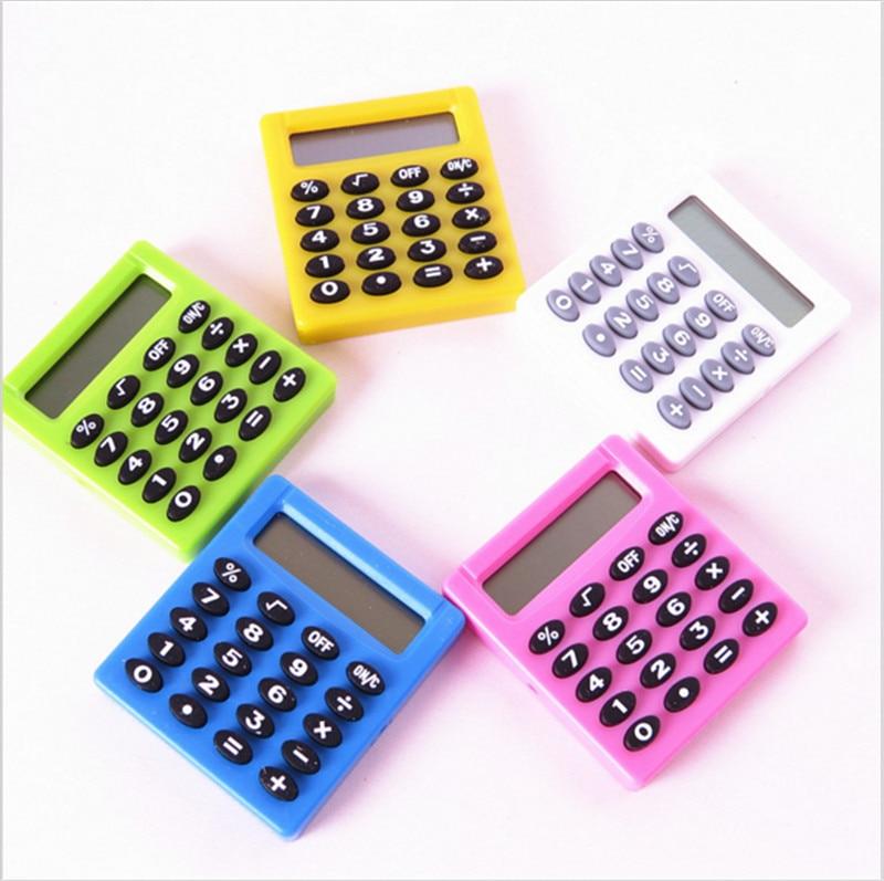 Pocket Cartoon Mini Calculator Ha ndheld Pocket Type Coin Batteries Calculator carry extras