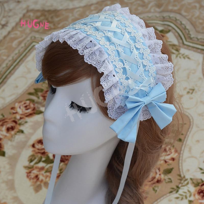 Sweet-New-Lolita-Lace-Headband-Pink-Blue-White-Black(3)