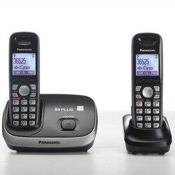 Dect 6.0 plus digital sem fio telefone fixo com interfone interno chamada id handfree casa telefone sem fio preto