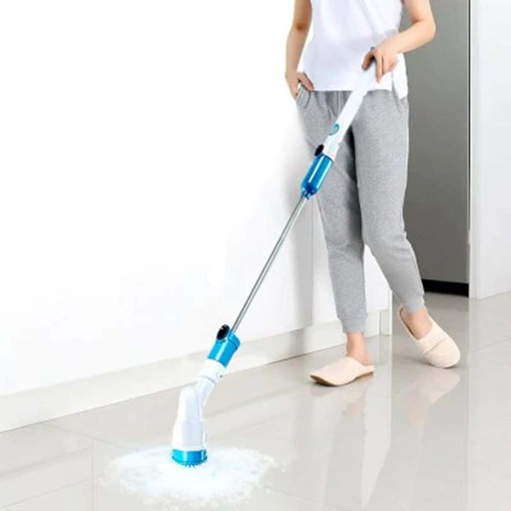 Electric Handheld Rechargeable 3 Head Turbo Scrub Cordless Cleaning 360 Power Scrubber