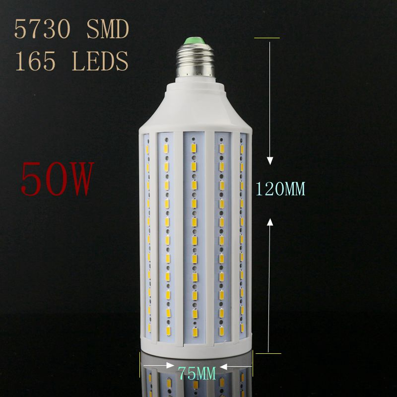 50W 165LED  E27 / B22 led light SMD 5630 e27 corn bulb lamp 5630smd LED Lighting 165-265V e26 e27 b22 18w led corn light smd5050 corn light ac85 265v