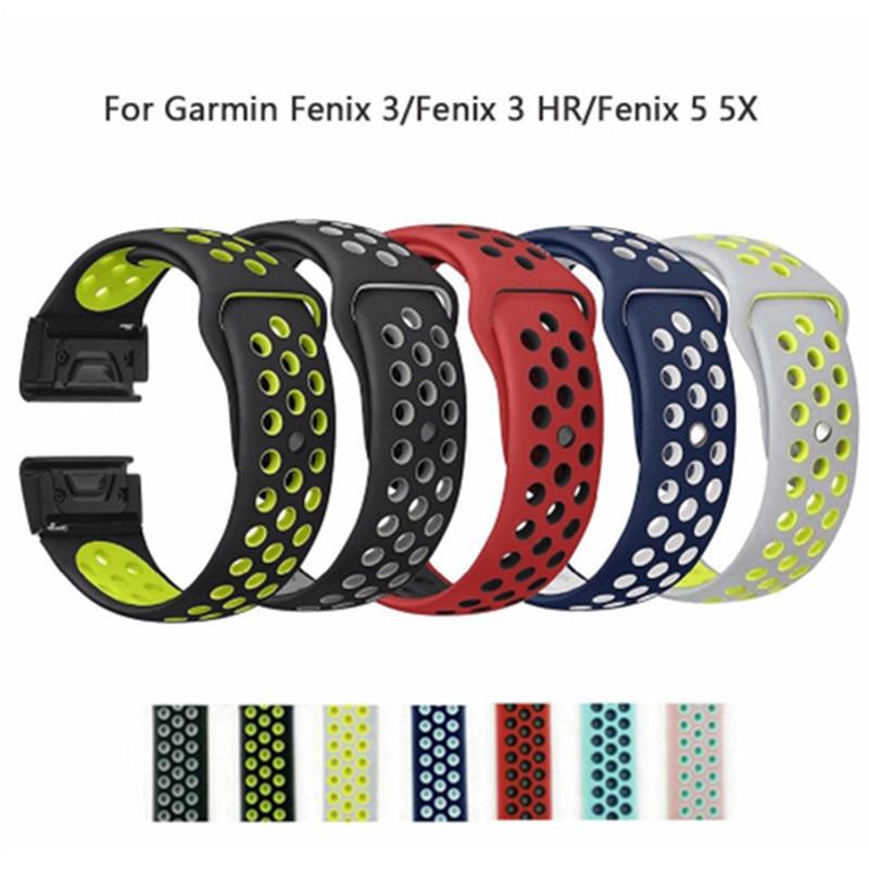 26mm 22mm Weichen Silikon Band Fur Garmin Fenix 3 Fenix 3 Hr Fenix 5