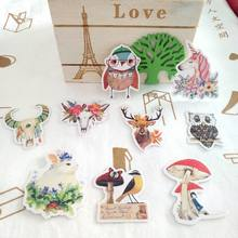 Anime Sticker Pack Animal Cat Flower Girls Stickers Book Album Diary Scrapbooking Children Kids Stickers Classic Toys(China)