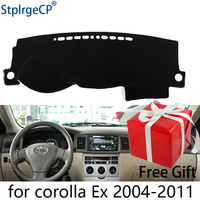 for Toyota corolla EX 2004 2011 dashboard mat Protective pad Shade Cushion Pad interior sticker car styling accessories