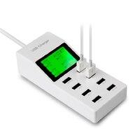 8 Porty Ekran LED Ładowarka USB Dock Ściana UE Podłącz Telefon adapter do telefonu iphone 5 6 ipad samsung ładowania urządzenie hurtownie