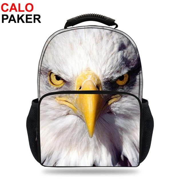 15inch 3D Mochila Children Bag School For Boys Hawk Bald Eagle Backpack Kids  Birds Animal Print Daypak Girls Schoolbag Rucksack 18848b82a3764