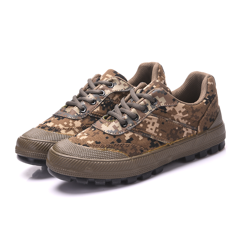 Outdoor Climbing Hunting Antiskid Wearproof Camouflage Training Shoe Men Spring Autumn Breathable Military Labor Canvas ShoesOutdoor Climbing Hunting Antiskid Wearproof Camouflage Training Shoe Men Spring Autumn Breathable Military Labor Canvas Shoes