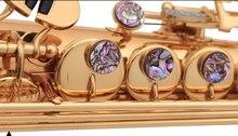 Sopransaxophon B Flache Saxe G Key Top Musikinstrument sax Goldlack Messing Saxophon kostenloser versand
