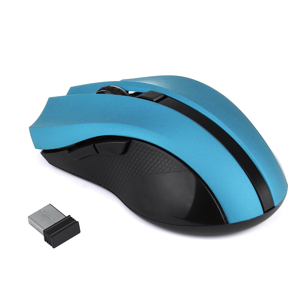 2019 New Cordless Wireless 2.4ghz Optical Mouse Mice For Laptop Pc Computer +usb Receiver 10# Harmonious Colors