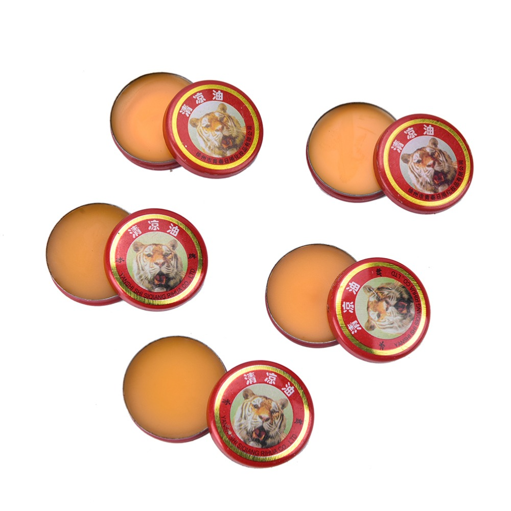 5pcs Chinese Tiger Magic Balm Refresh Influenza Treatment Cold Headache DizzinessMuscle Massager Relax Essential Oil