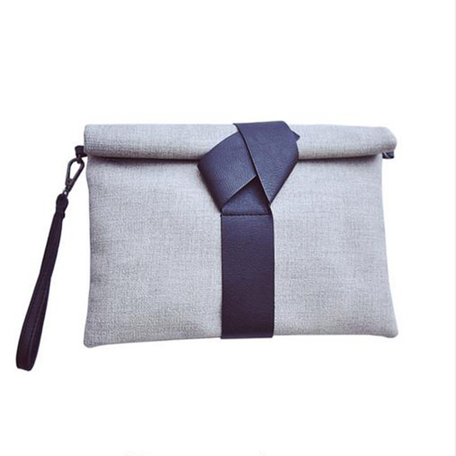 Women Envelope Day Casual Clutch Fabric Cotton Crossbody Bag Fashion Ribbons Party Shoulder Bag Bolsas Mujer XA1670C