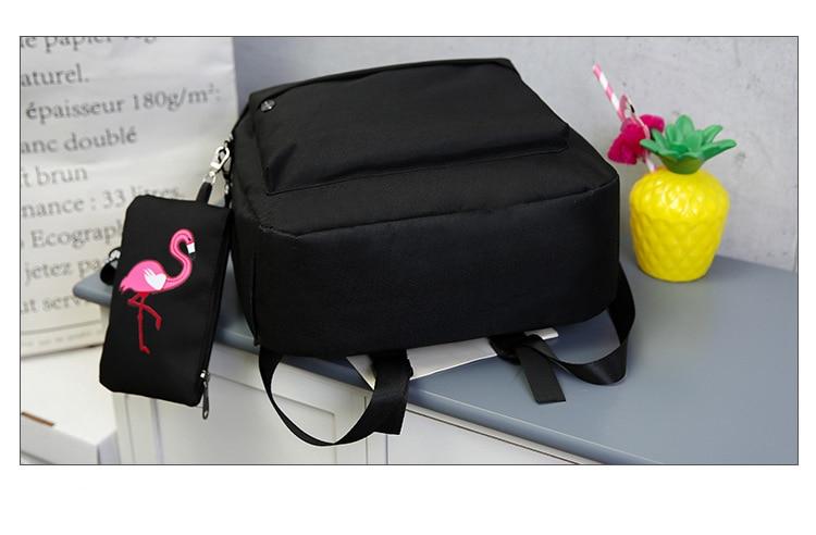 HTB1lm5KwZj B1NjSZFHq6yDWpXaH Backpacks Brand Women Simple Flamingo Printing Backpack For Teenage Girls Laptop School Bags Mochila 2019