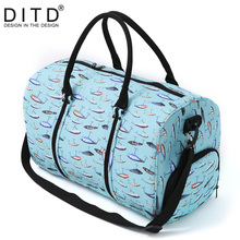 Nylon Folding Travel Bag Traveling Hand Luggage Waterproof Shoulder Suit Bags Large Capacity Tote Foldable Duffle Women
