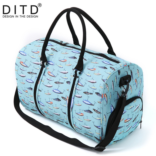 dcfc9639c714 Nylon Folding Travel Bag Traveling Hand Luggage Waterproof Shoulder Suit Bags  Large Capacity Tote Foldable Duffle Bag Women
