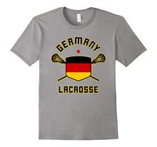 2019 New Brand Cheap Sale 100 % Cotton Germany Lacrosse T-Shirt | German Flag Lax Dress T-Shirt(China)