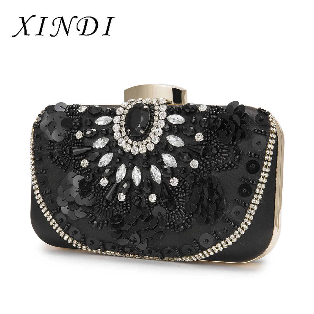 Luxury Crystal Evening Bag Clutch Embroider gemstone party purse High Quality Vintage Fashion Women wedding clutch bag Diamond