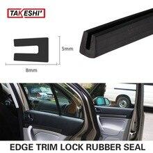 236″ 600cm Black 8x5mm U pillar Channel Car Truck Camper exterior interior weatherstrip lock seal Edge Strip seal dustproof #51