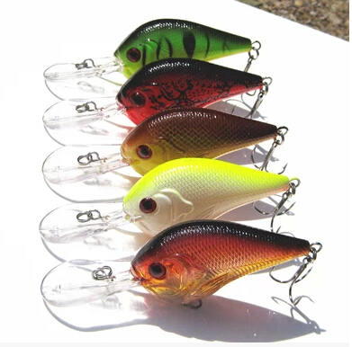 5 pcs/lot long-tongued Fat crank baits pesca/fishing lures 9.5cm/11g Dive deep 0.8-3.5 m