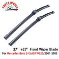 27''+27'' Pair Windscreen Front Wiper Blades For Mercedes Benz S CLASS W220,Fit Windshield Natural Rubber Wipers,Car Accessories
