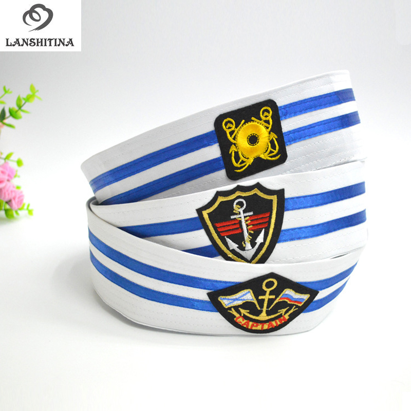 New Cotton Naval Caps Hats for Men Women Children Trend Stage Performance Popeye Sailor Hat White Air Uniform Army Cap GH-243