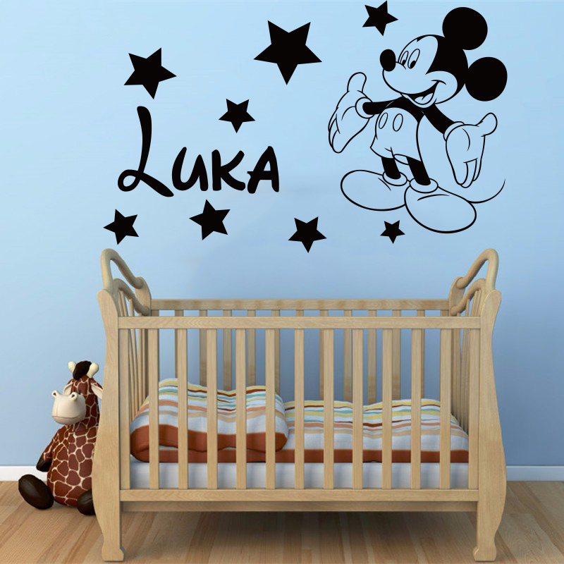 Personalized Name Vinyl Decal Wall Sticker Boy Girl Children Nursery Home Decor