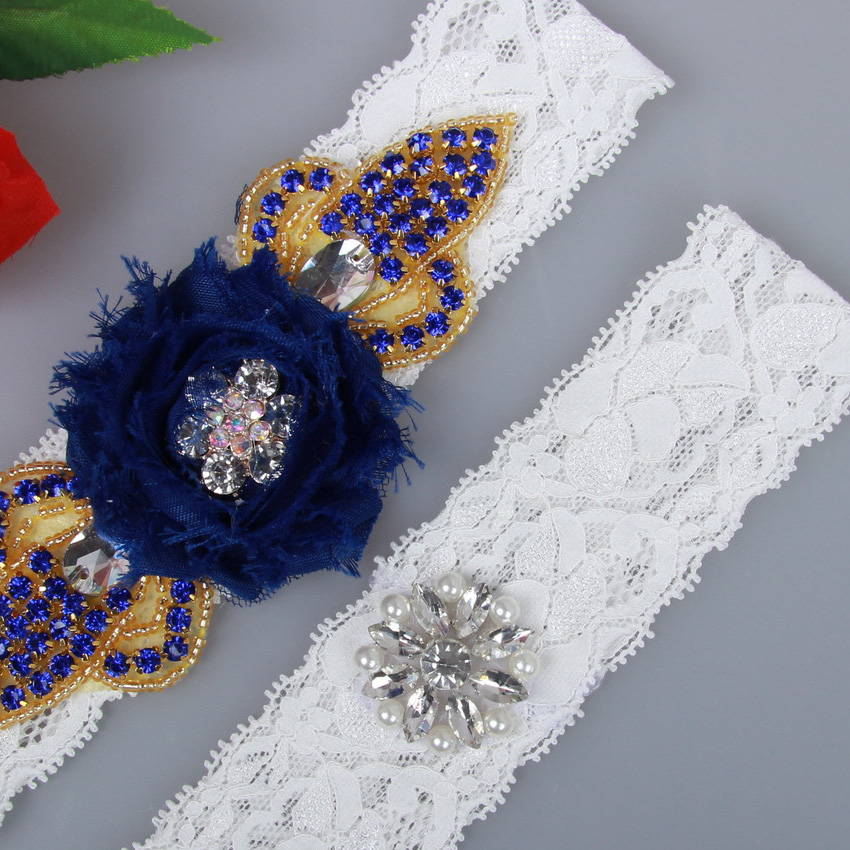 Aliexpress.com : Buy Navy Blue And Ivory Bridal Garter