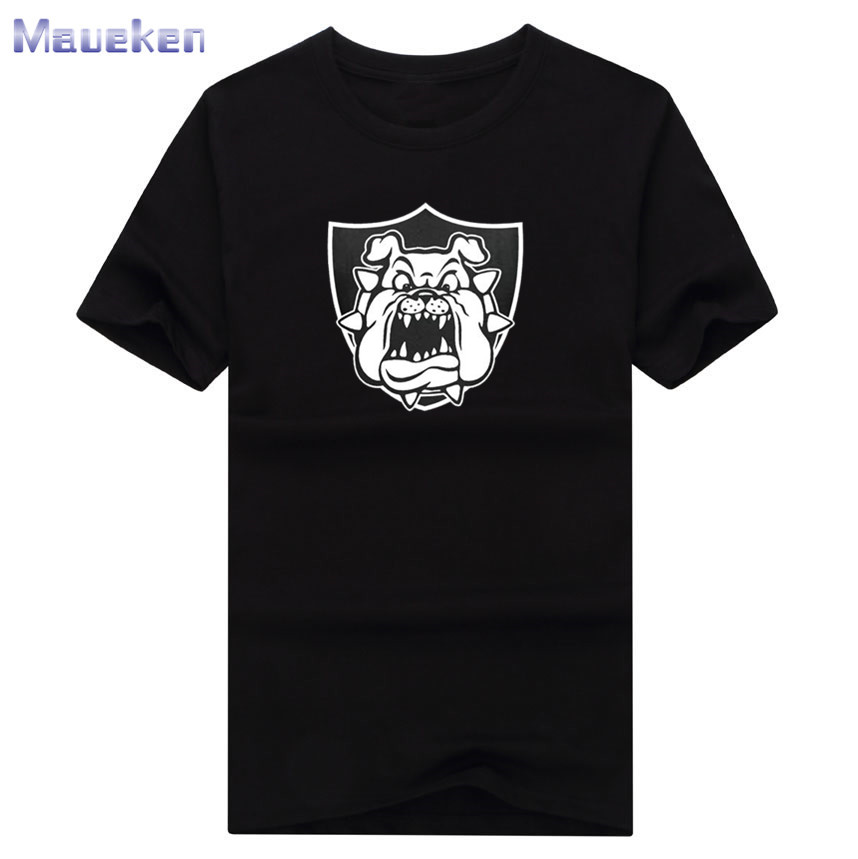 2017 Derek Carr Bulldog T font b shirt b font 100 cotton tee short sleeve o