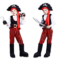 Free shipping Halloween pirate costume Pirates of the Caribbean costumes Boys costumes role-playing Captain Jack