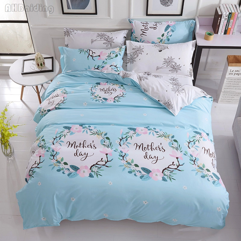 Beauty Spring Flowers Print Bedding Set Modern Adult/Children Bedding Set Bed Linen Duvet Cover Flat Sheet Pillowcase Bedclothes