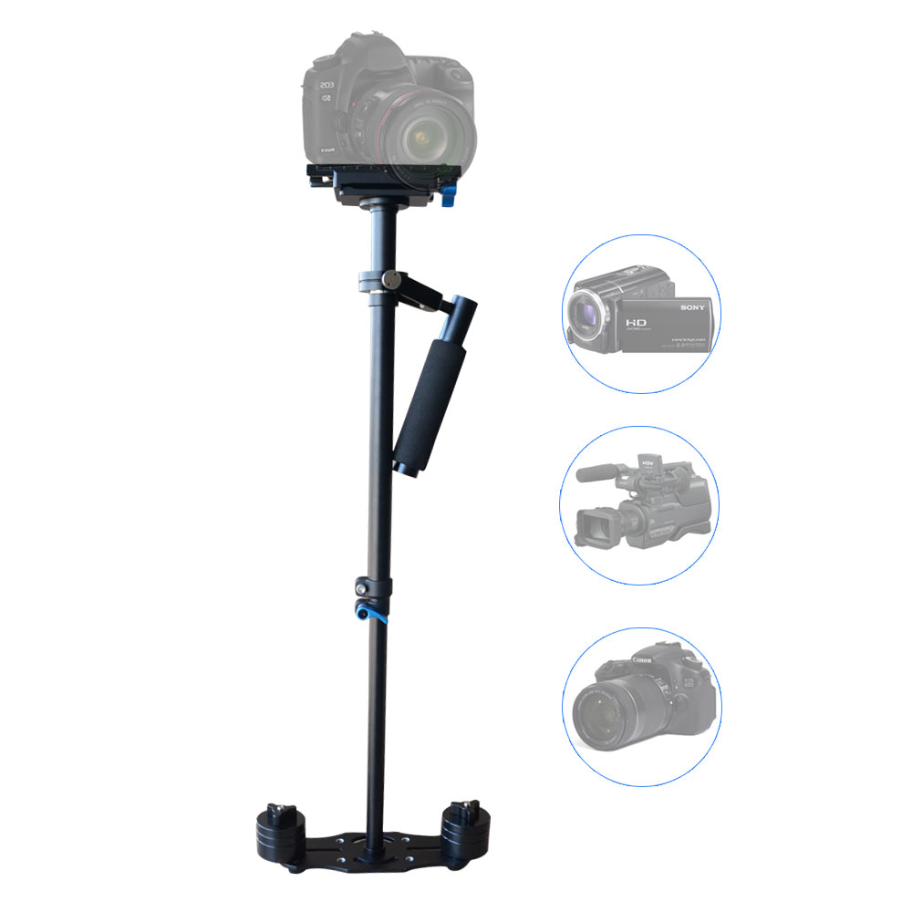Mcoplus Portable S-60 Aluminium Handheld Stabilizer Steadicam steadycam with 1/4 Screw for Video DV Camcorder & DSLR mcoplus professional handheld stabilizer video steadicam for digital hdslr dslr rig shoulder mount dv camera camcorder