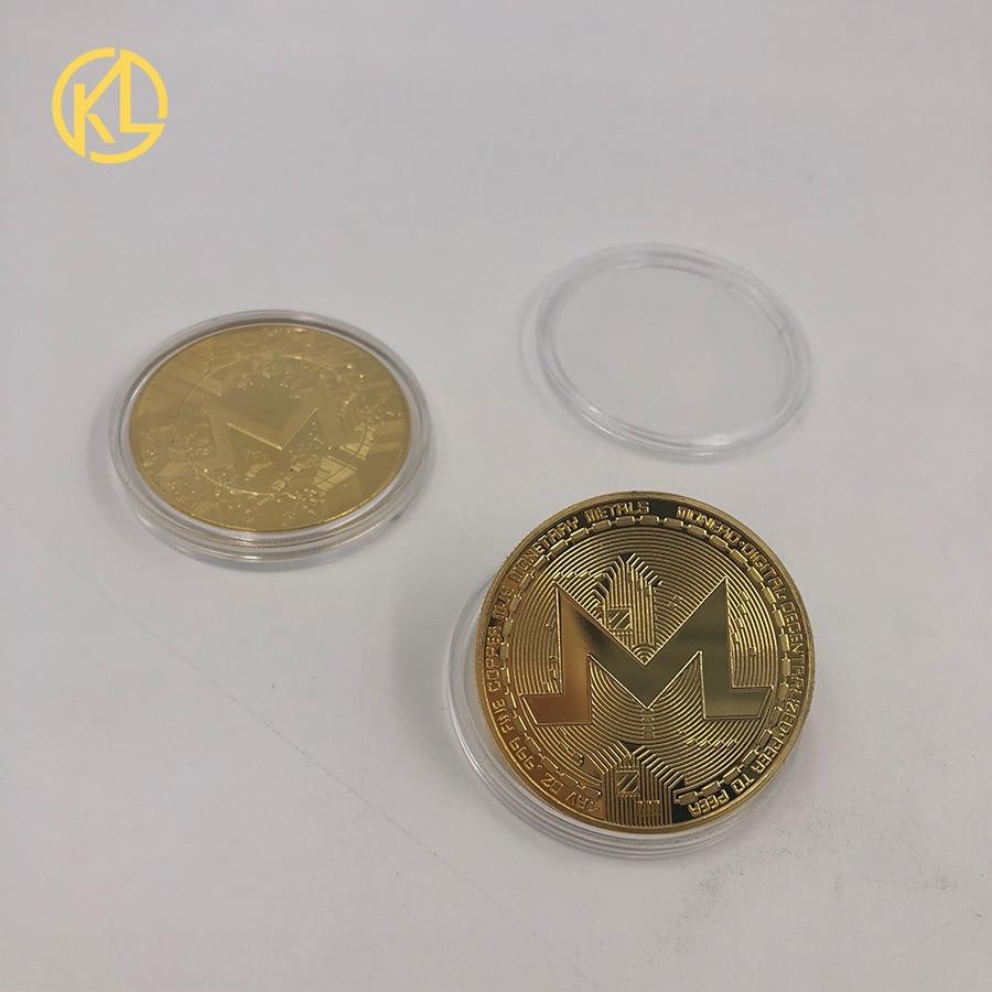 Юбилейные Монеты CO014 с золотым покрытием, монеты для коллекционирования, монеты с золотым покрытием, монеты для эфириума