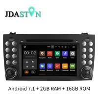 JDASTON 2 Din 7 Polegada Android 7.1 Jogador Do Carro DVD Para SLK230 Mercedes Benz SLK R171 W171 GPS Multimídia Rádio de Navegação 2G RAM