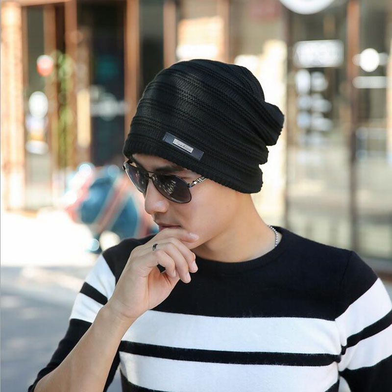 2016 Brand Beanies Knit Winter Hats For Men Women Beanie Men's Winter Hat Caps Bonnet Outdoor Ski Sports Warm Baggy Cap gorros winter casual cotton knit hats for women men baggy beanie hat crochet slouchy oversized ski cap warm skullies toucas gorros 448e