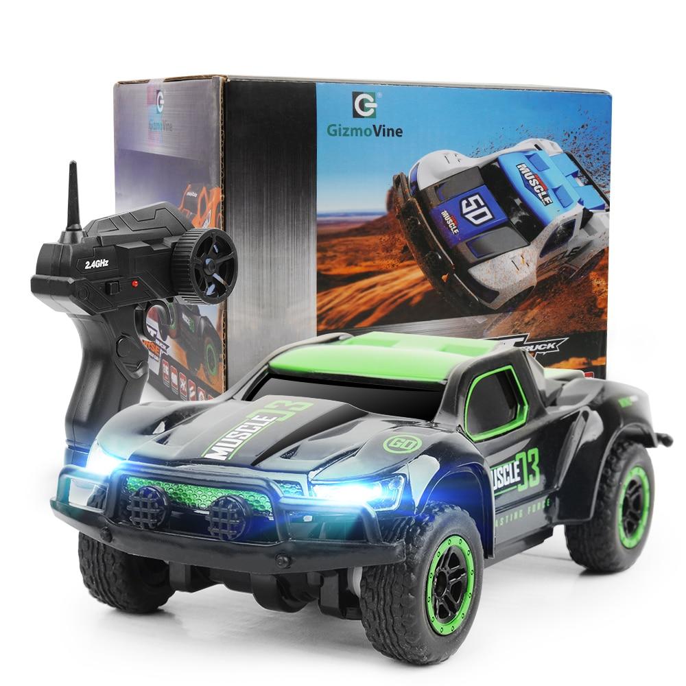 1/43 Mini Rc coche de control remoto de coches de juguete de alta velocidad 25 km/h camión 4CH controlado por Radio de la máquina de juguetes para los niños regalos de navidad