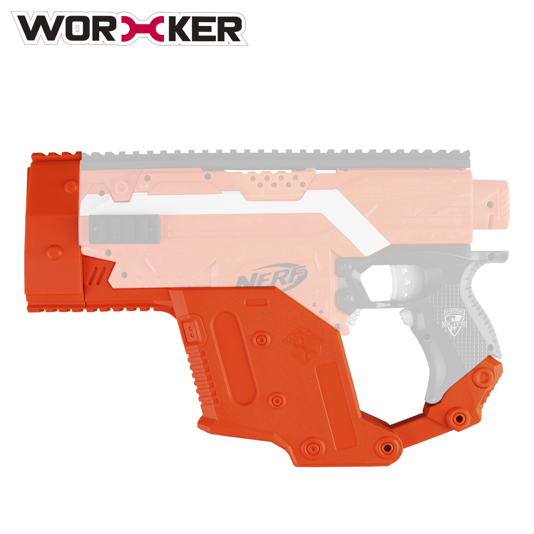 WORKER Modified Dagger Cover Shaped Toy Accessories kit for Nerf Stryfe