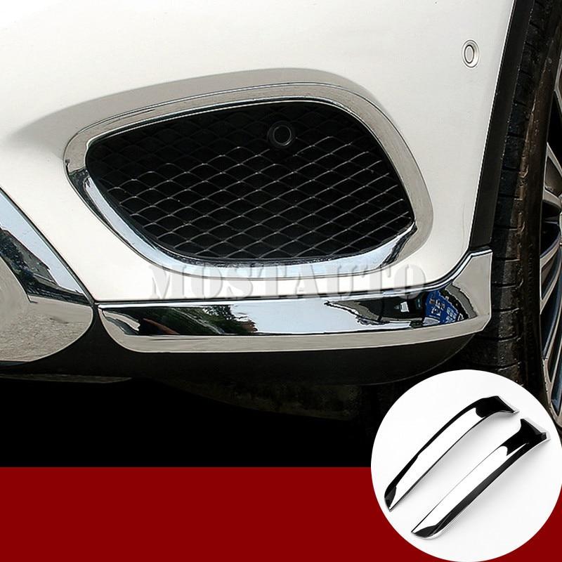 Pour Mercedes Benz GLC X205 X253 ABS couverture de moulage d'angle de pare-chocs avant 2015-2018 2 pièces