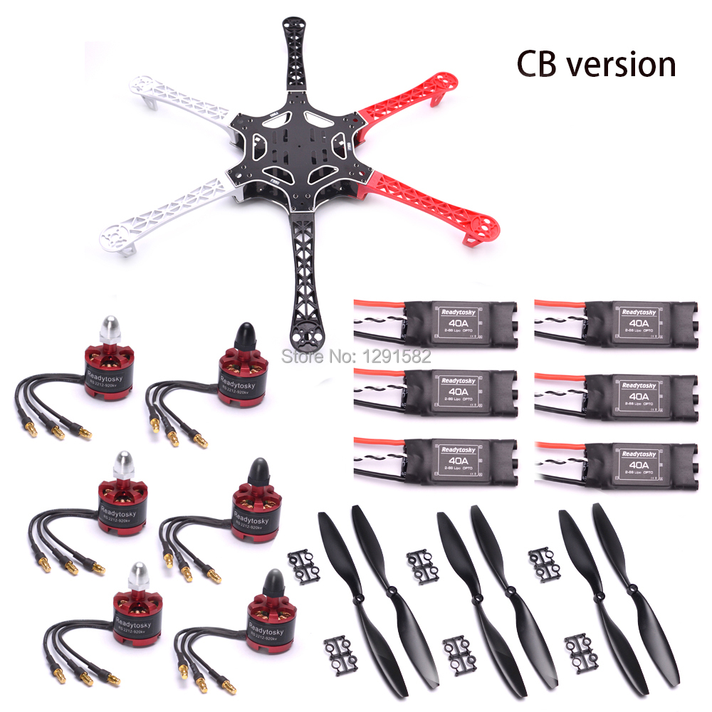 F550 550mm PCB zestaw ze szkieletem 2212 920KV bezszczotkowy silnik 30A Simonk ESC/40A OPTO 2 6S dla f450 S500 Drone Quadcopter multicoptera w Części i akcesoria od Zabawki i hobby na  Grupa 1
