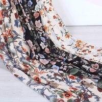 Кутюр модная шифоновая ткань, сатин из искусственного шелка, гортензии цветочные, зеленые листья, гладкие, драпировка, шитье, ремесло на мет...