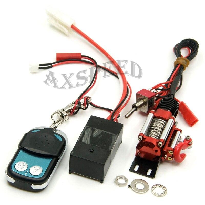 Système de contrôle automatique de treuil de chenille câblé par acier d'axspeed RC + récepteur à distance sans fil