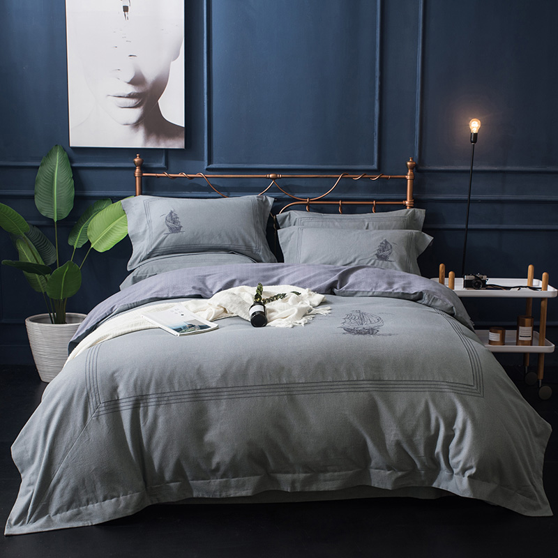 Bohemia style 100%  Cotton Luxury Bedding set Embroidery Duvet Cover Pillow Case Queen King 4PC SetBohemia style 100%  Cotton Luxury Bedding set Embroidery Duvet Cover Pillow Case Queen King 4PC Set