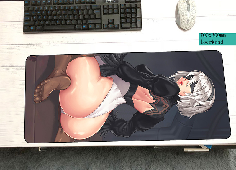 NieR Automata padmouse 700x300mm pad to mouse notbook computer mousepad locked edge gaming mouse pad gamer to laptop mouse mats cs go mouse pad 900x300mm pad to mouse notbook computer locked edge mousepad csgo gaming padmouse gamer to keyboard mouse mat