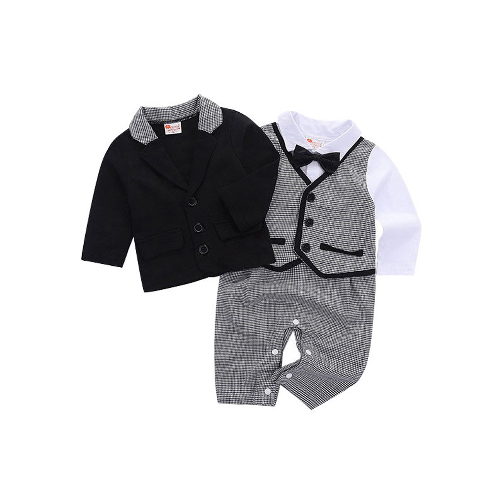 Toddler Baby Boy Bowtie Gentleman Coat T Shirt Pants Wedding Suit Cloth Sets Baby Boys Clothes Gentleman Bow Tie Suit Clothes