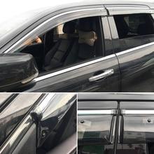 Exterior Plastic Window Visor Vent Shades Rain Guard 4PCS  Fit  FOR JEEP GRAND CHEROKEE  2012-2018