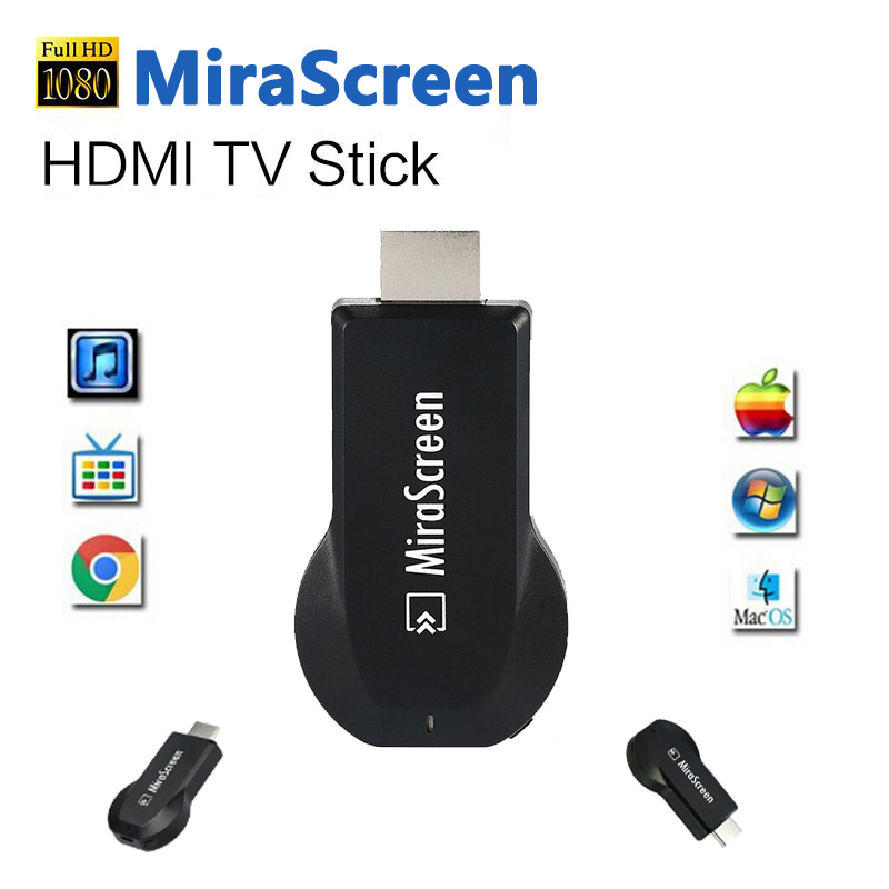 Digital HDMI Media Video Streamer Wi-Fi Display Receiver TV Stick Mirescreen DLNA Airplay Miracast Media Player vs chrome cast