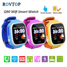 Q90 Smart Watch With GPS Phone Positioning Touch Screen WIFI SOS Fitness Tracker For Children Kids Baby Smartwatch Z2(China)