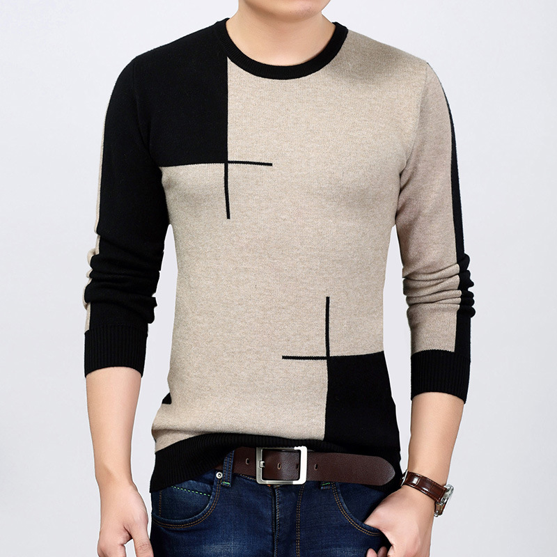 Men's Clothes 2019 Fashion Men T-shirt Slim Fit One Piece T-shirt Long Spring Autumn New O Neck Casual T-shirt Tee Shirt Homme