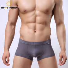 Brave Person Brand Men s Sportswear Sexy Mesh Breathable Boxer Shorts Underwear Men Boxers B1015