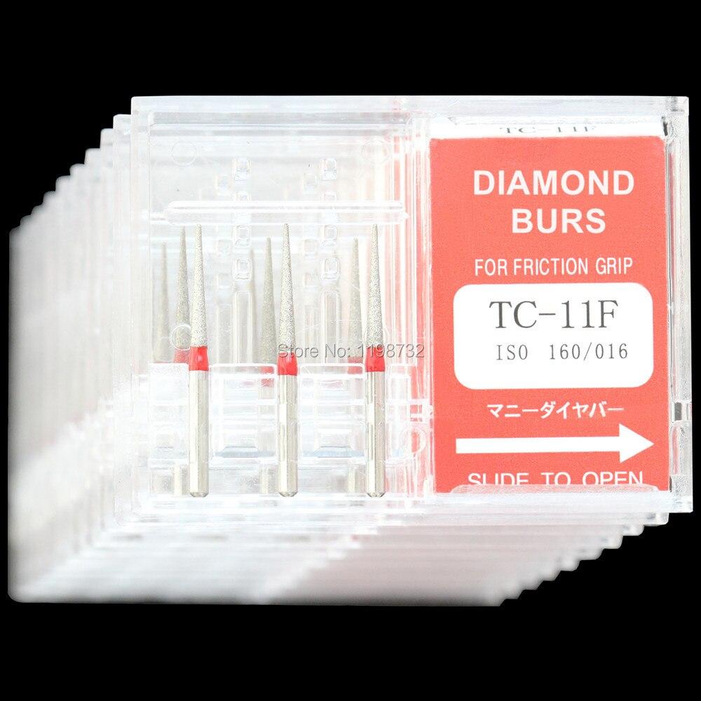 Купить с кэшбэком 10 Boxes Dental Diamond Burs TC-11/TC-11F/TC-11C/TC-11EF Polisher Drill FG1.6mm High Speed Handpiece DIA-BURS Fast Shipping