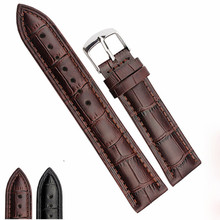 14mm 20mm 22mm Watch Bracelet Belt Black Watchbands Leather Strap Watch Band Watch Accessories Watchband And Clasp цена